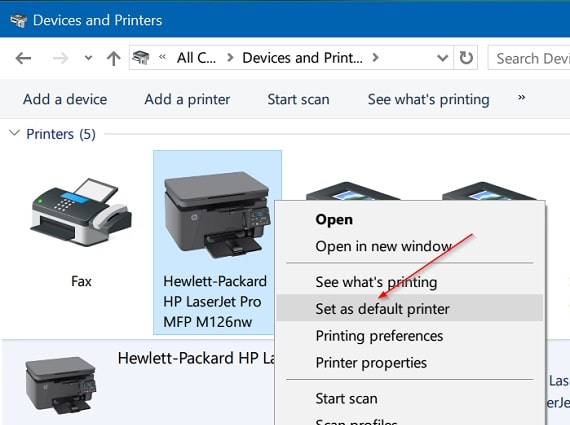 Set-as-Default-Printer