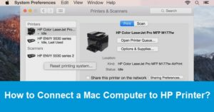 Connect a Mac Computer to HP Printer