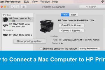 Connect a Mac Computer to HP Printer