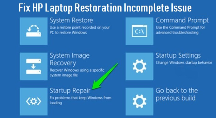 Fix HP Laptop Restoration Incomplete Issue