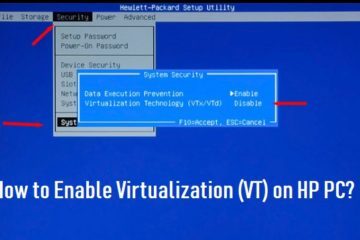 Enable Virtualization (VT) on HP PC