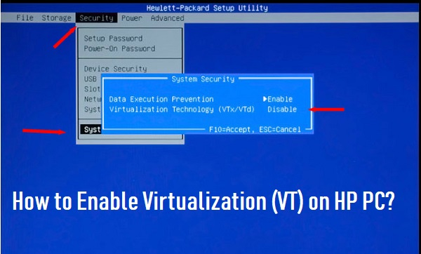 How to Enable Virtualization (VT) on HP PC? 1-888-816-4888