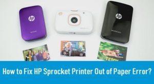 Fix HP Sprocket Printer Out of Paper Error