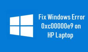 Fix Windows Error 0xc00000e9 on HP Laptop