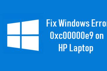 Fix Windows Error 0xc00000e9 on HP Laptop