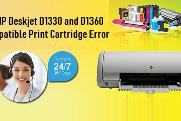 HP Deskjet D1330 and D1360 Incompatible Print Cartridge