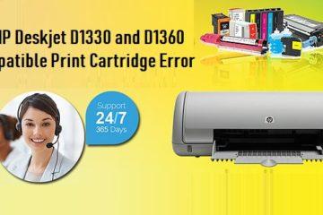 HP Deskjet D1330 and D1360 Incompatible Print Cartridge