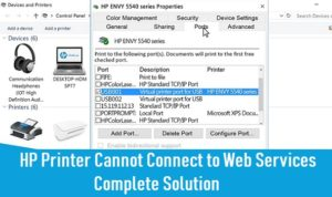 HP Printer Cannot Connect to Web Services