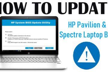 Update HP Pavilion & Spectre Laptop Bios