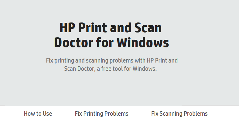 HP Print and Scan Doctor to Fix Printer Problems on Windows