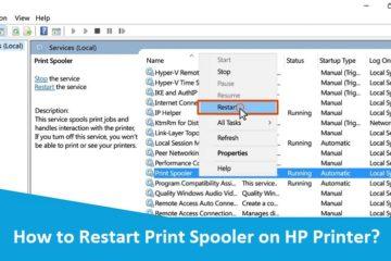 Restart Print Spooler on HP Printer