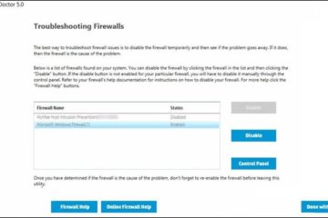Firewall Blocking Driver Install or Printer Function