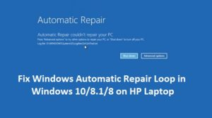 Fix Windows Automatic Repair Loop