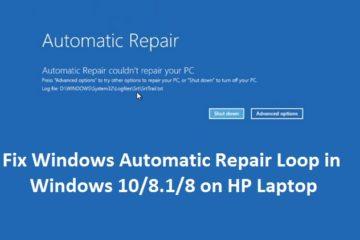 Fix Windows Automatic Repair Loop