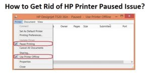 Get Rid of HP Printer Paused Issue