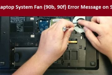 HP Laptop System Fan (90b, 90f) Error