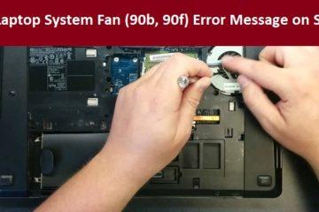HP Laptop System Fan (90b, 90f) Error