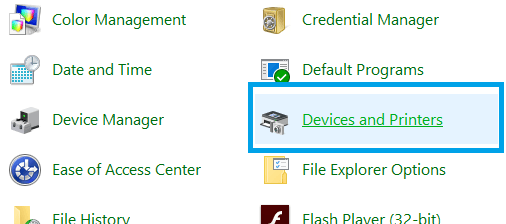 Device-and-Printers
