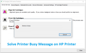 Solve Printer Busy Message on HP Printer