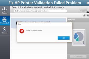 Fix HP Printer Validation Failed Problem