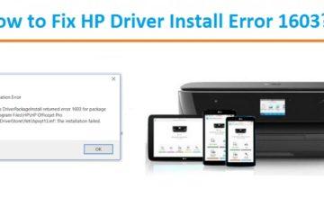 HP Driver Install Error 1603