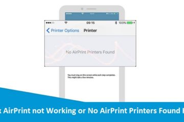 No AirPrint Printers Found HP