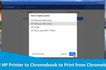 Add HP Printer to Chromebook