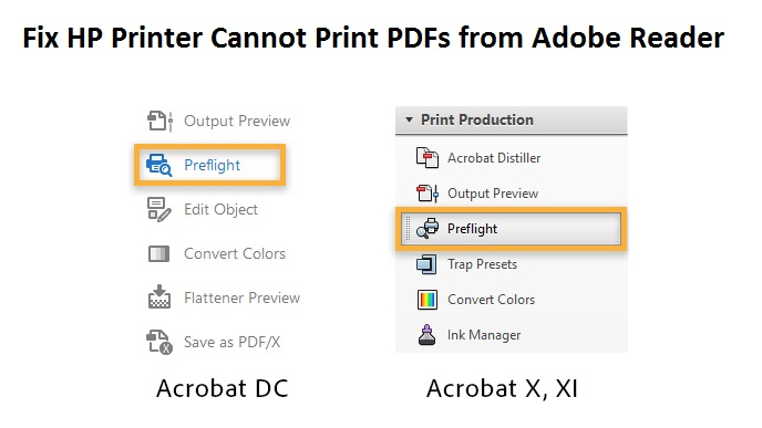 HP Printer Cannot Print PDFs from Adobe Reader