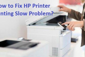 HP Printer Printing Slow