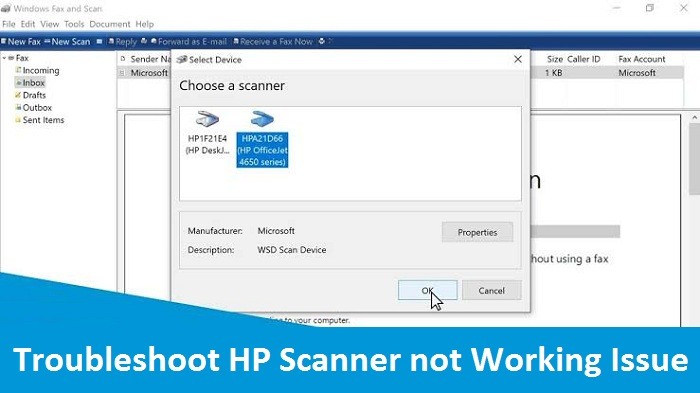 Troubleshoot HP Scanner not Working Issue