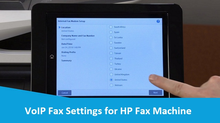 VoIP-Fax-Settings