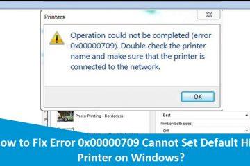 Error-0x00000709-Cannot-Set-Default-HP-Printer