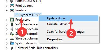 update-printer