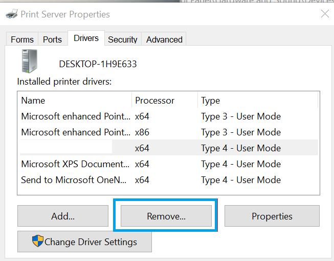 Remove-Pinter-Driver