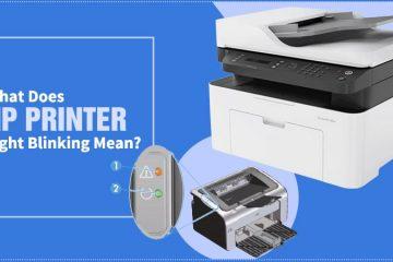 HP Printer Light Blinking